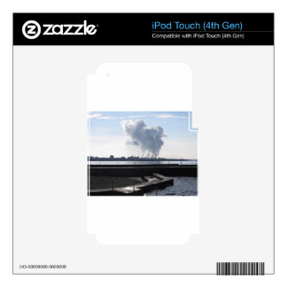 Industrial landscape along the coast decal for iPod touch 4G