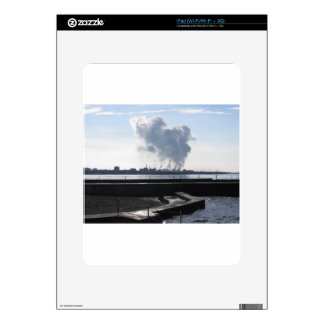 Industrial landscape along the coast iPad skins