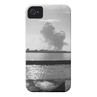 Industrial landscape along the coast iPhone 4 cover
