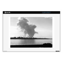 Industrial landscape along the coast laptop decals