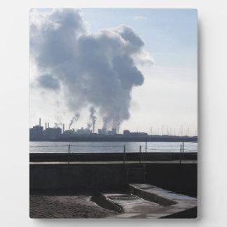 Industrial landscape along the coast plaque