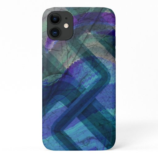 Industrial Landscape Colorful Abstract iPhone 11 Case