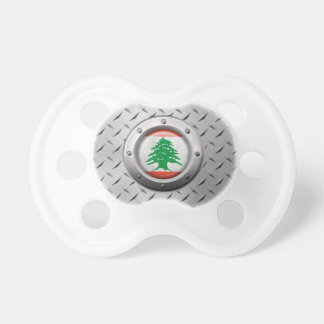 Industrial Lebanese Flag with Steel Graphic Pacifier