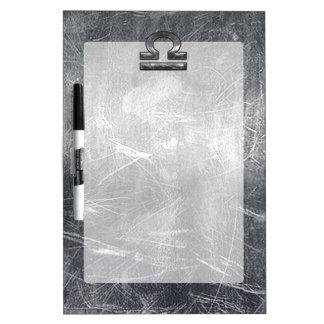 Industrial Libra Zodiac Sign in Silver Steel Dry Erase Board