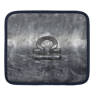 Industrial Libra Zodiac Sign in Silver Steel Sleeve For iPads