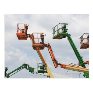 Industrial lifting platforms postcards