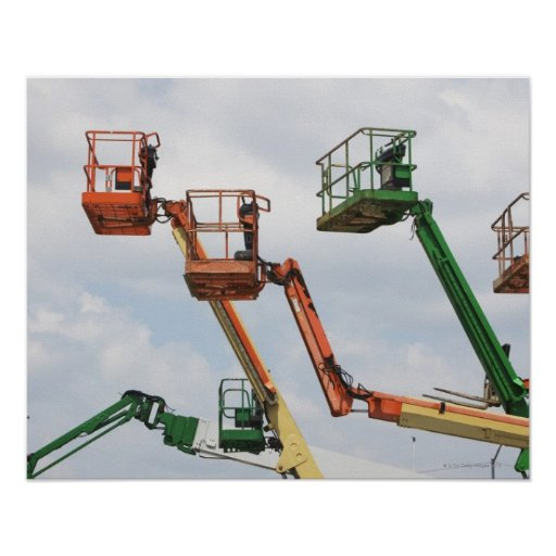 Industrial lifting platforms posters