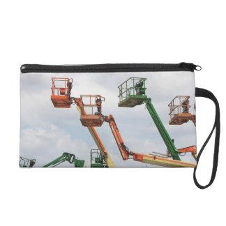 Industrial lifting platforms wristlet purse