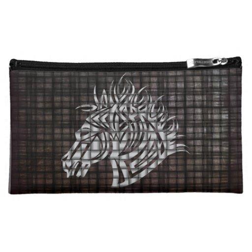 Industrial Like Stylized Horse Head Cosmetics Bags
