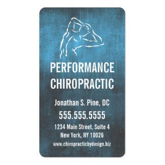 Industrial-Look Chiropractic Logo Business Cards