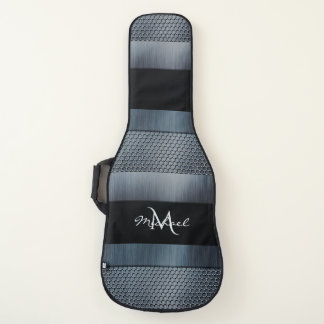 Industrial Look Steel Leather and Diamond Plate Guitar Case