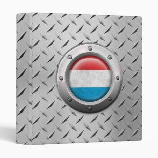 Industrial Luxembourg Flag with Steel Graphic Vinyl Binders