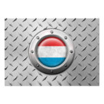 Industrial Luxembourg Flag with Steel Graphic Custom Invite