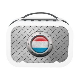 Industrial Luxembourg Flag with Steel Graphic Yubo Lunchbox