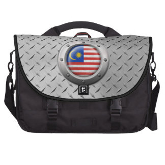 Industrial Malaysian Flag with Steel Graphic Computer Bag