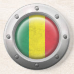 Industrial Mali Flag with Steel Graphic Drink Coaster