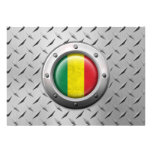 Industrial Mali Flag with Steel Graphic Personalized Announcements