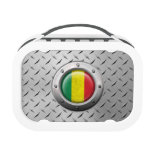 Industrial Mali Flag with Steel Graphic Lunchboxes