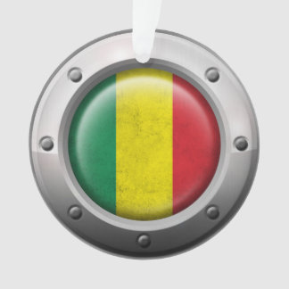 Industrial Mali Flag with Steel Graphic Ornament