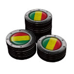 Industrial Mali Flag with Steel Graphic Poker Chips