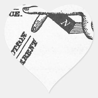 Industrial Mechanical Vintage Engineering Heart Sticker