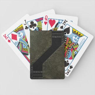 Industrial Mesh Pattern Poker Cards