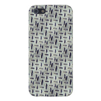 Industrial Metal Diamond Plate Steel Pattern Case For iPhone SE/5/5s