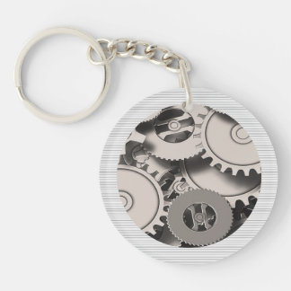 Industrial Metal Gears Keychain