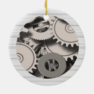 Industrial Metal Gears Christmas Ornament