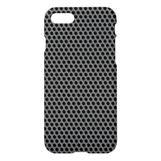 Industrial Metallic Silver Grille Polka Dots iPhone 7 Case