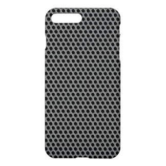 Industrial Metallic Silver Grille Polka Dots iPhone 7 Plus Case