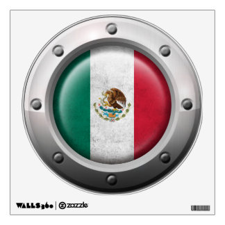 Industrial Mexican Flag with Steel Graphic Wall Sticker