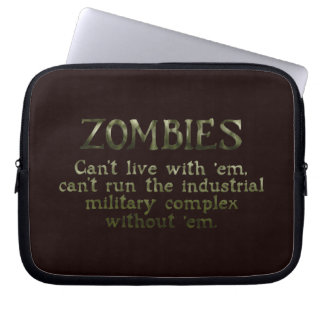 Industrial Military Complex Zombies Computer Sleeve