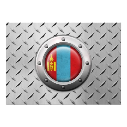 Industrial Mongolian Flag with Steel Graphic Card