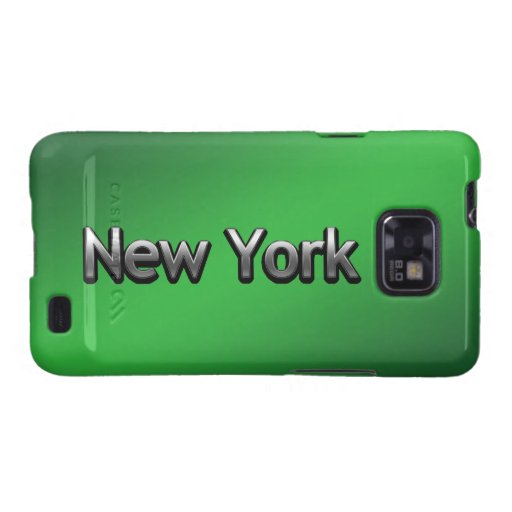 Industrial New York - On Black Samsung Galaxy SII Cover