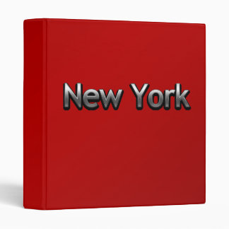 Industrial New York - On Red 3 Ring Binder