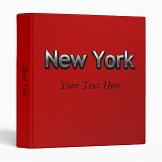Industrial New York - On Red Binder
