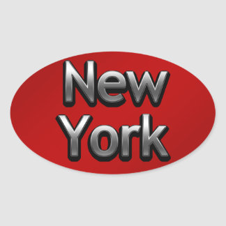 Industrial New York - On Red Oval Sticker