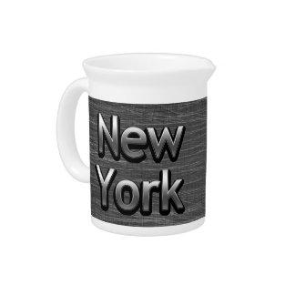 Industrial New York - On Urban Grey Beverage Pitcher