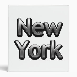 Industrial New York - On White 3 Ring Binder