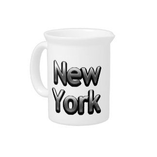 Industrial New York - On White Pitcher