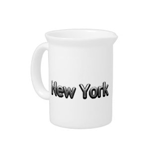 Industrial New York - On White Beverage Pitcher