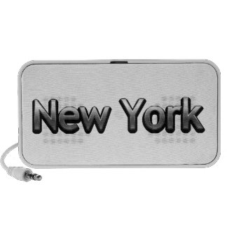 Industrial New York - On White Travelling Speakers