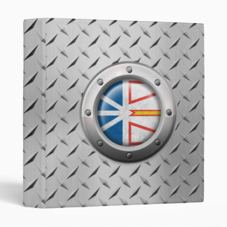 Industrial Newfoundland Flag with Steel Graphic 3 Ring Binder