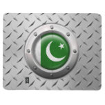 Industrial Pakistani Flag with Steel Graphic Journals