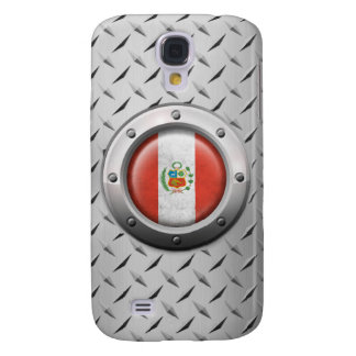 Industrial Peruvian Flag with Steel Graphic Galaxy S4 Cover