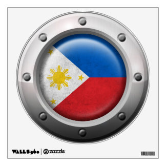 Industrial Philippines Flag with Steel Graphic Wall Sticker