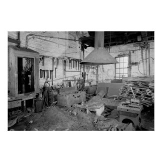 Industrial Photo - Abandoned Blacksmith Shop Poster