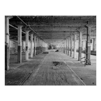 Industrial Photo - Abandoned Electric Factory Poster