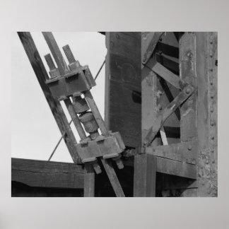 Industrial Photo - Bridge Truss End Posts Poster